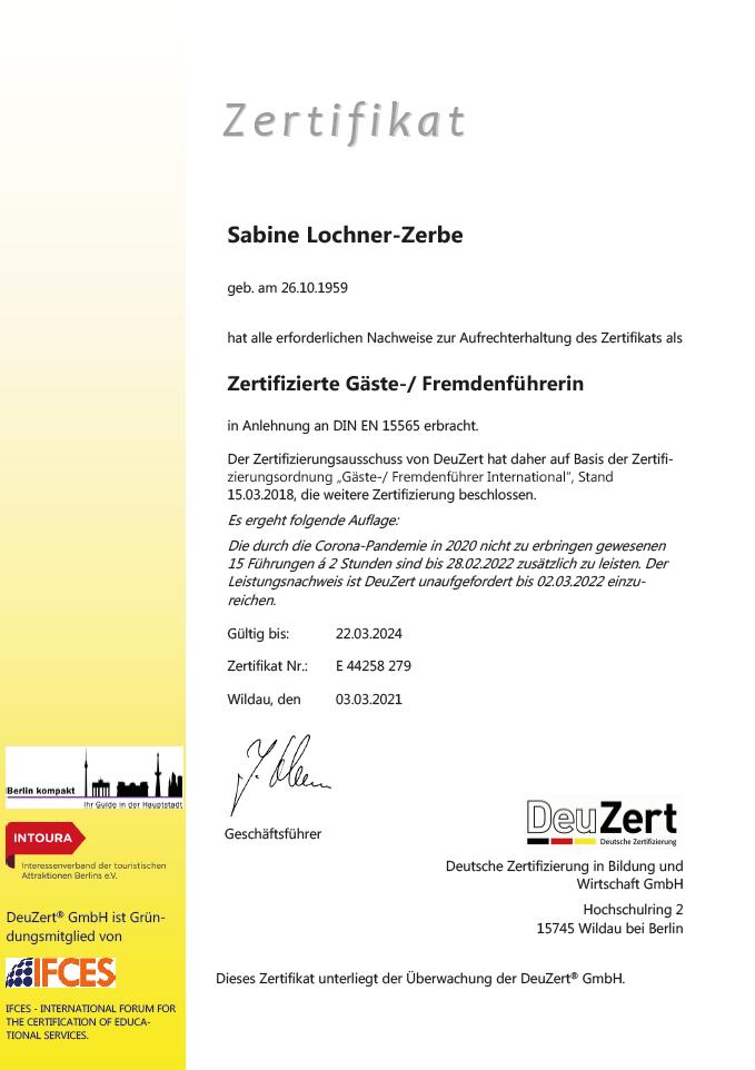 Zertifizierter Gäste- und Fremdenführer Sabine Lochner