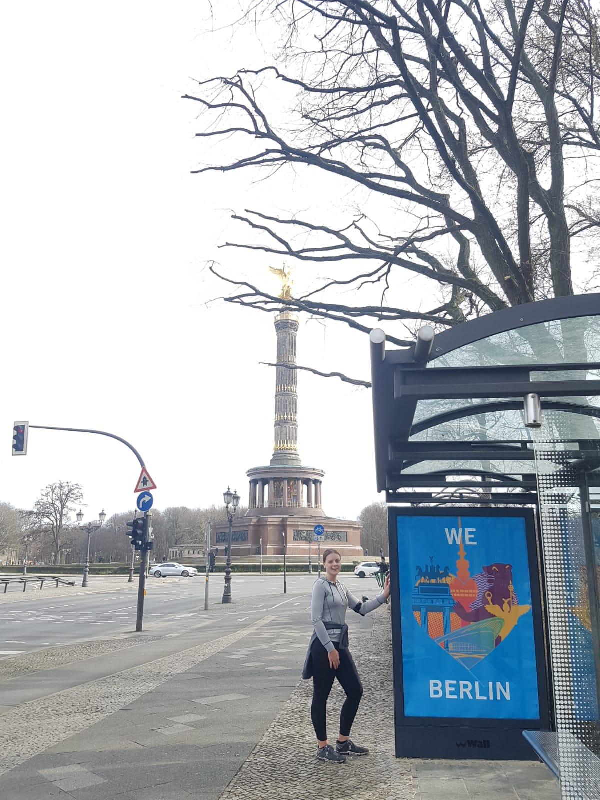 Corinna und Berlin-Sightrunning bei ihrem Lauf vor der Siegessäule