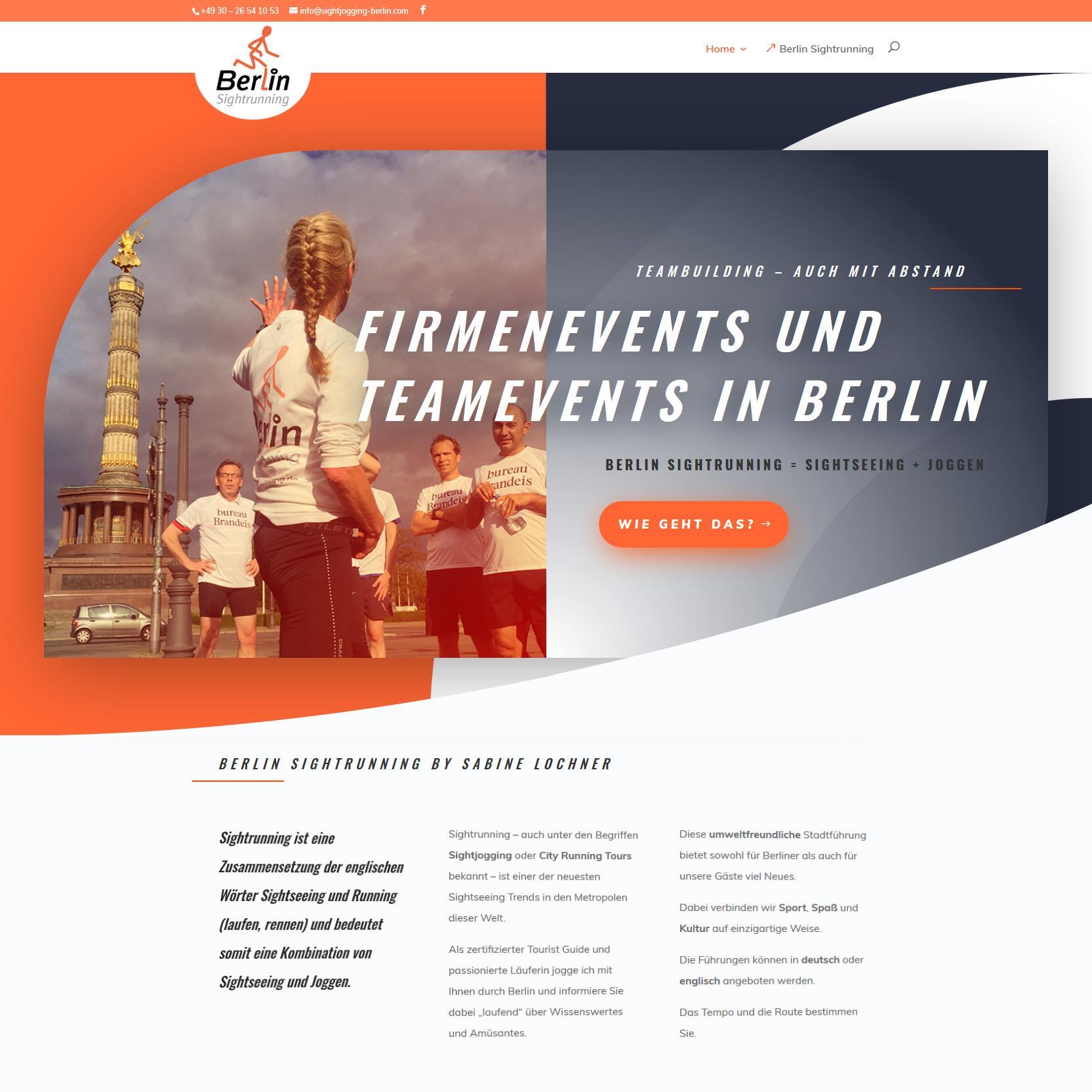 Firmen- und Teamevents Berlin - Teambuilding by Sightrunning